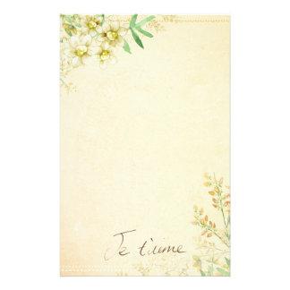 Papelaria Papel estacionário floral natural