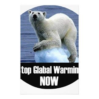Papelaria Pare o aquecimento global agora