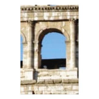 Papelaria parede de três arcos
