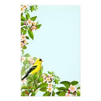 Papelaria Pássaro americano do Goldfinch em artigos de