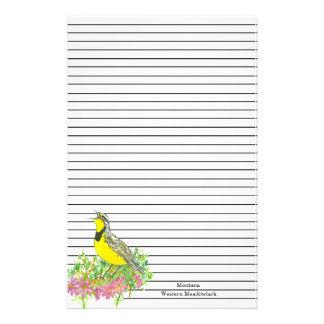 Papelaria Pássaro de estado de Montana Meadowlark ocidental