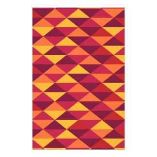 Papelaria Pattern Triangles Orange - Padrão vermelho