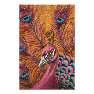 Papelaria Pavão cor-de-rosa