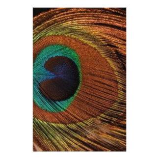 Papelaria peacocks-plume-1red e ouro