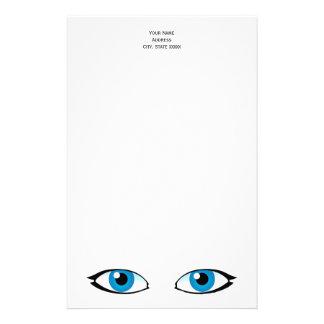 Papelaria Peças faciais - olhos azuis brilhantes