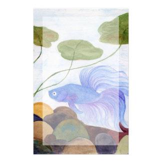 Papelaria Peixes azuis de Betta