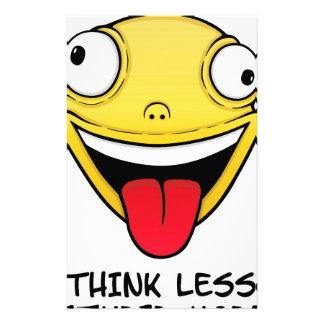 Papelaria Pense menos, estúpido mais