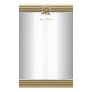 Papelaria Pérola elegante do branco da prata do ouro dos