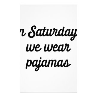 Papelaria Pijamas de sábado