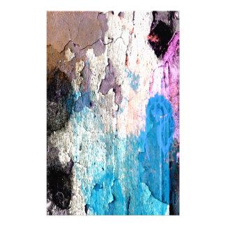 Papelaria Pintura da casca em azul, roxo, rosa
