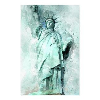Papelaria Pintura da estátua da liberdade