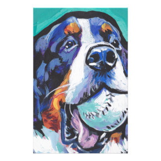 Papelaria Pintura do pop art do cão de montanha de Bernese