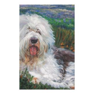 Papelaria Pintura inglesa velha bonita da arte do cão do