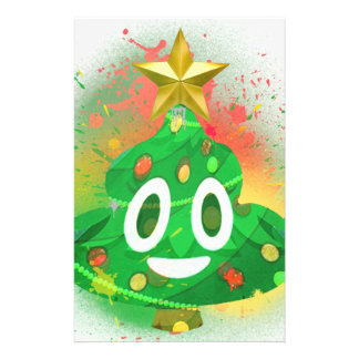 Papelaria Pintura pistola da árvore de Natal de Emoji
