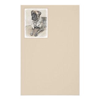 Papelaria Pintura (rajado) inglesa do Mastiff - cão original