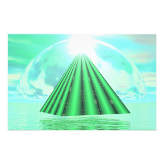 Papelaria Pirâmide Mystical - 3D rendem