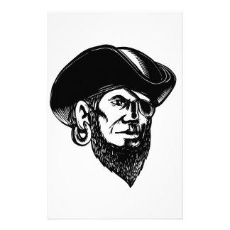 Papelaria Pirata que veste o remendo Scratchboard do olho