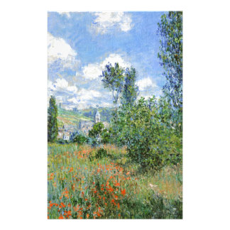 Papelaria Pista nos campos da papoila - Claude Monet