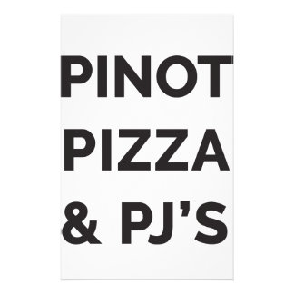 Papelaria Pizza, Pinot e de vinho do PJ impressão engraçado
