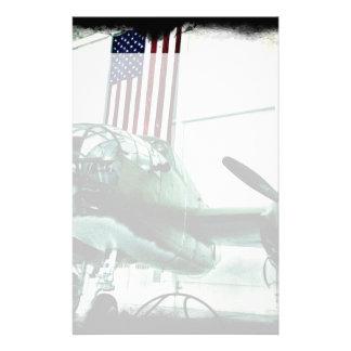Papelaria Plano patriótico das forças armadas WWII com