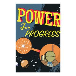 Papelaria Poder para o poster atômico do vintage do