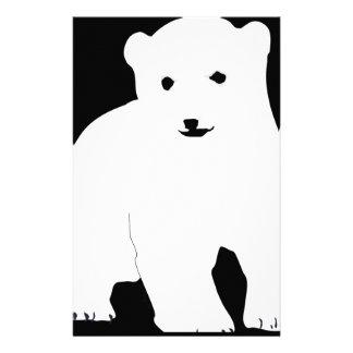 Papelaria PolarBearCubBlackSF