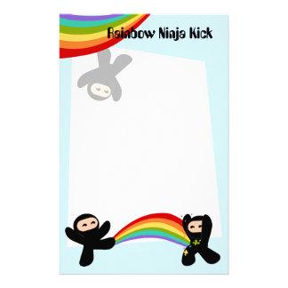 Papelaria Pontapé de Ninja do arco-íris