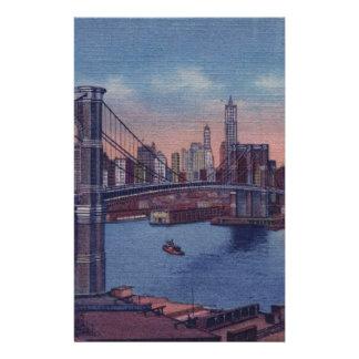 Papelaria Ponte de Brooklyn do vintage