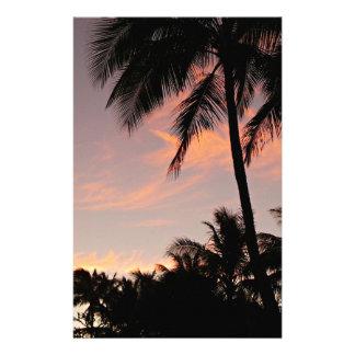 Papelaria Por do sol cor-de-rosa de Havaí