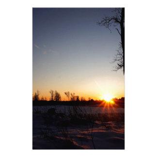 Papelaria Por do sol da parte traseira 40
