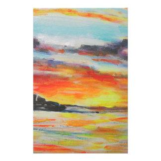 Papelaria Por do sol da praia de Bondi