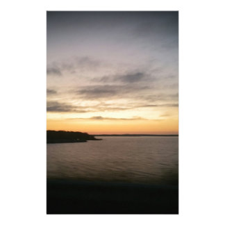 Papelaria Por do sol de Texoma do lago