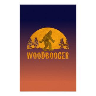 Papelaria Por do sol do vintage de Woodbooger