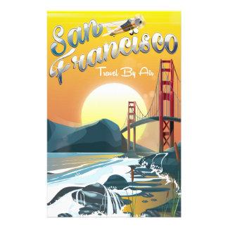 Papelaria Por do sol dourado pelo ar de San Fransisco