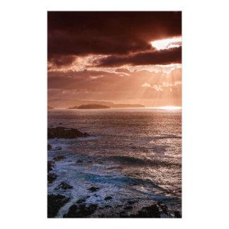 Papelaria Por do sol escocês, costa norte de Scotland