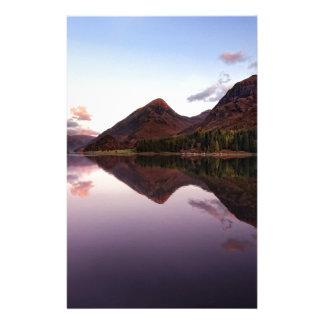 Papelaria Por do sol no Loch Leven, Scotland