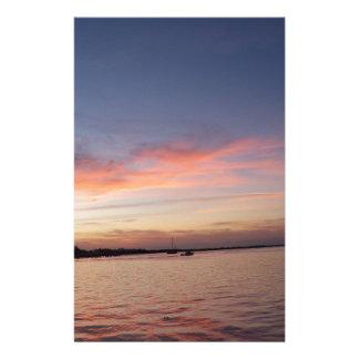 Papelaria Por do sol sobre a baía de Florida, Largo chave FL