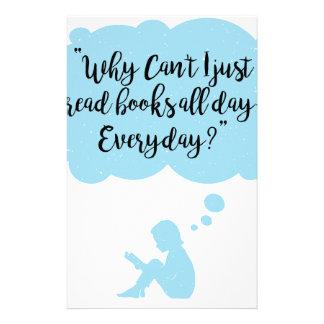 Papelaria Porque não possa eu apenas leio diário dos livros