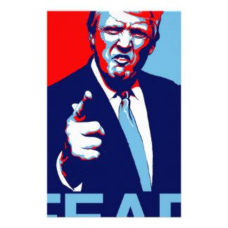 """Papelaria Poster 2017 da paródia do """"medo"""" de Donald Trump"""