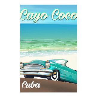 Papelaria Poster cubano das férias dos Cocos de Cayo
