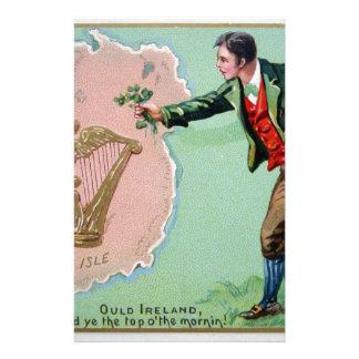 Papelaria Poster da ilha dos erin do dia de Patrick de santo
