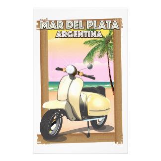 Papelaria Poster da praia de Mar del Plata Argentina