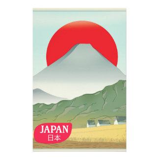 Papelaria Poster das viagens vintage da montanha de Japão