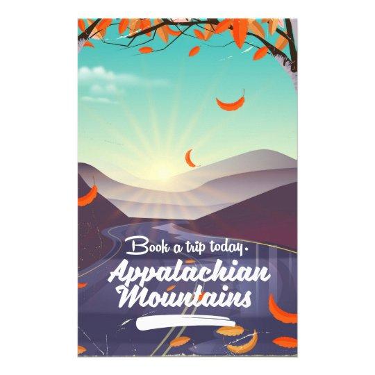 Papelaria Poster das viagens vintage das montanhas apalaches