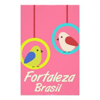 Papelaria Poster das viagens vintage de Fortaleza Brasil