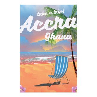 Papelaria Poster de viagens da praia de Accra Ghana