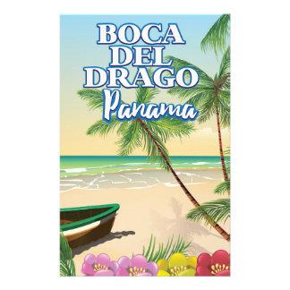 Papelaria Poster de viagens da praia de Boca del Drago