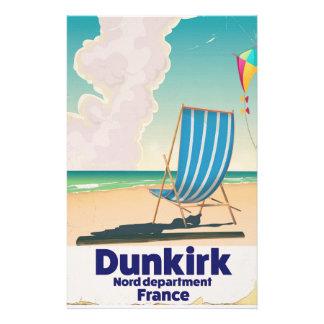 Papelaria Poster de viagens da praia de Dunkirk