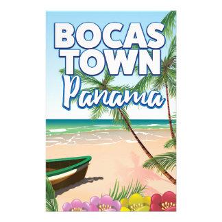 Papelaria Poster de viagens da praia de Panamá da cidade de