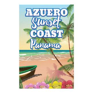 Papelaria Poster de viagens da praia de Panamá da costa do